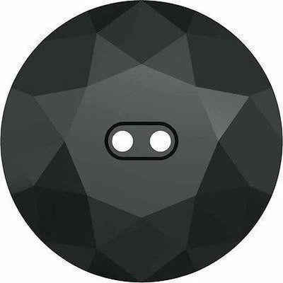 3014 Swarovski® Buttons Round-Swarovski Crystal Buttons-Jet Hematite UNFOILED-12mm - Pack of 2-Bluestreak Crystals