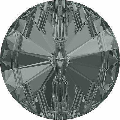3015 Swarovski® Buttons Rivoli-Swarovski Crystal Buttons-Black Diamond-10mm - Pack of 4-Bluestreak Crystals