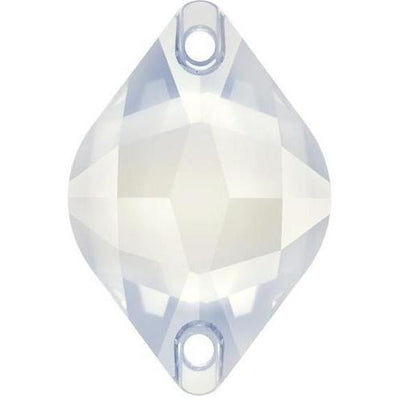 3211 Swarovski® Sew On Crystals Lemon-Swarovski Sew-on Crystals-White Opal-14x9mm - Pack of 2-Bluestreak Crystals
