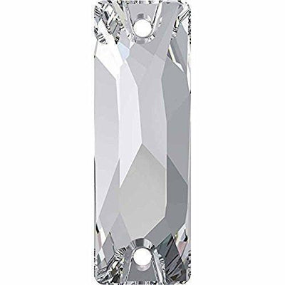 3255 Swarovski® Sew On Crystals Cosmic Baguette-Swarovski Sew-on Crystals-Crystal-18mm - Pack of 2-Bluestreak Crystals