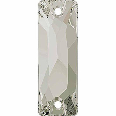 3255 Swarovski® Sew On Crystals Cosmic Baguette-Swarovski Sew-on Crystals-Silver Shade F-18mm - Pack of 2-Bluestreak Crystals