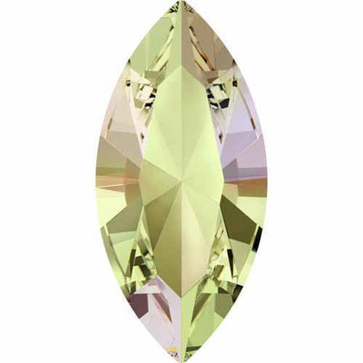 4228 Swarovski® Fancy Stones Xilion Navette 10X5mm Crystal & Shimmer Effects-Swarovski Fancy Stones-Crystal Luminous Green-10x5mm - Pack of 10-Bluestreak Crystals