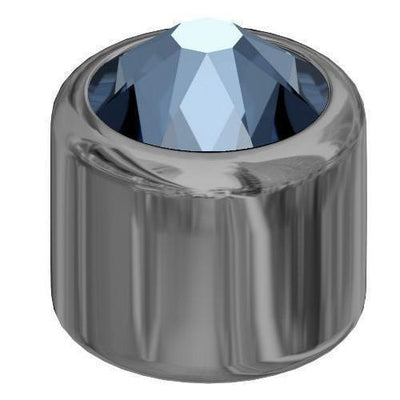 54001 Swarovski® 3D Stud 4mm SS16 Gunmetal - Designer Edition-Swarovski Studs-Denim Blue-Pack of 5-Bluestreak Crystals