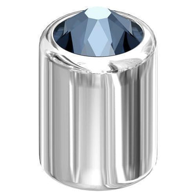 54002 Swarovski® 3D Stud 6mm SS16 Silver - Designer Edition-Swarovski Studs-Denim Blue-Pack of 5-Bluestreak Crystals