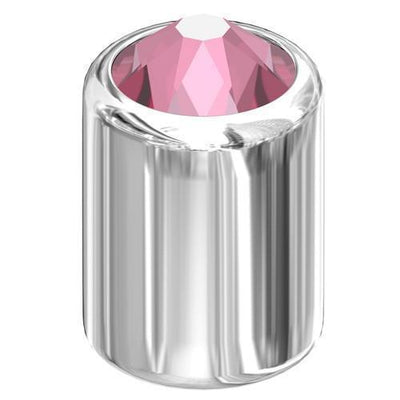 54002 Swarovski® 3D Stud 6mm SS16 Silver - Designer Edition-Swarovski Studs-Light Rose-Pack of 5-Bluestreak Crystals