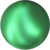 5818 Swarovski® Pearls Round Half Drilled Crystal Eden Green Pearl-Swarovski Pearls-Bluestreak Crystals