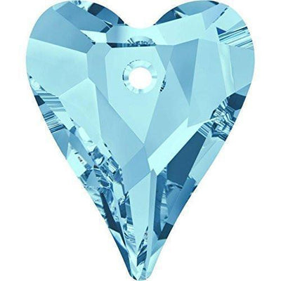 6240 Swarovski® Pendant Wild Heart-Swarovski Pendants-Aquamarine-12mm - Pack of 4-Bluestreak Crystals