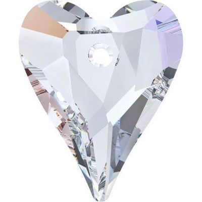6240 Swarovski® Pendant Wild Heart-Swarovski Pendants-Crystal AB-12mm - Pack of 4-Bluestreak Crystals