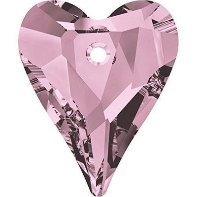 6240 Swarovski® Pendant Wild Heart-Swarovski Pendants-Crystal Antique Pink-12mm - Pack of 4-Bluestreak Crystals