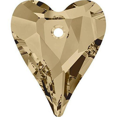 6240 Swarovski® Pendant Wild Heart-Swarovski Pendants-Crystal Golden Shadow-12mm - Pack of 4-Bluestreak Crystals