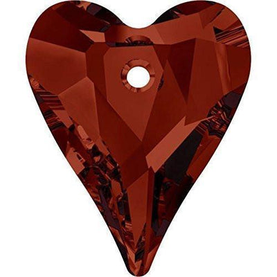 6240 Swarovski® Pendant Wild Heart-Swarovski Pendants-Crystal Red Magma-12mm - Pack of 4-Bluestreak Crystals