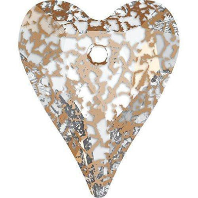 6240 Swarovski® Pendant Wild Heart-Swarovski Pendants-Crystal Rose Patina-27mm - Pack of 1-Bluestreak Crystals