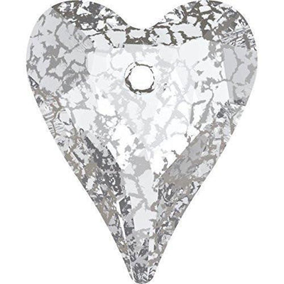 6240 Swarovski® Pendant Wild Heart-Swarovski Pendants-Crystal Silver Patina-27mm - Pack of 1-Bluestreak Crystals