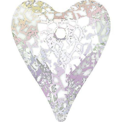 6240 Swarovski® Pendant Wild Heart-Swarovski Pendants-Crystal White Patina-27mm - Pack of 1-Bluestreak Crystals