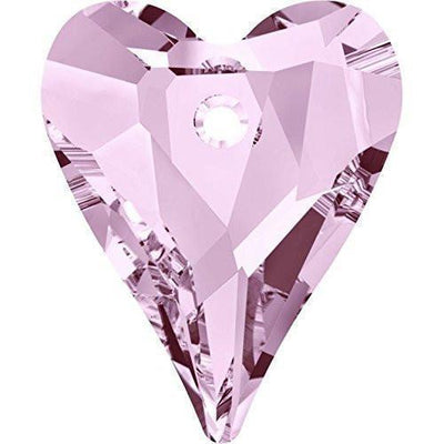 6240 Swarovski® Pendant Wild Heart-Swarovski Pendants-Rosaline-12mm - Pack of 4-Bluestreak Crystals