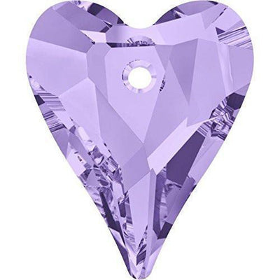 6240 Swarovski® Pendant Wild Heart-Swarovski Pendants-Tanzanite-12mm - Pack of 4-Bluestreak Crystals