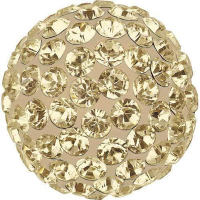 86301 Swarovski® Becharmed Charm Half Hole Pave Ball 10mm-Swarovski BeCharmed & Pave Charms-Crystal Golden Shadow & Pearl Silk-10mm - Pack of 1-Bluestreak Crystals
