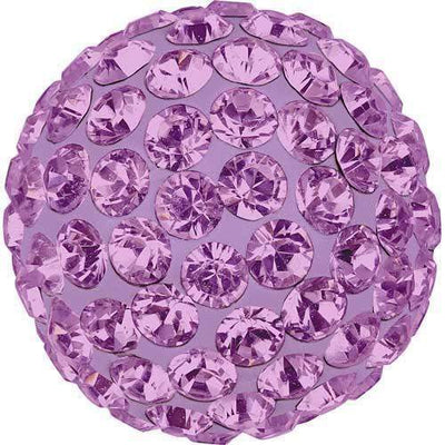86301 Swarovski® Becharmed Charm Half Hole Pave Ball 10mm-Swarovski BeCharmed & Pave Charms-Light Amethyst & Mauve-10mm - Pack of 1-Bluestreak Crystals