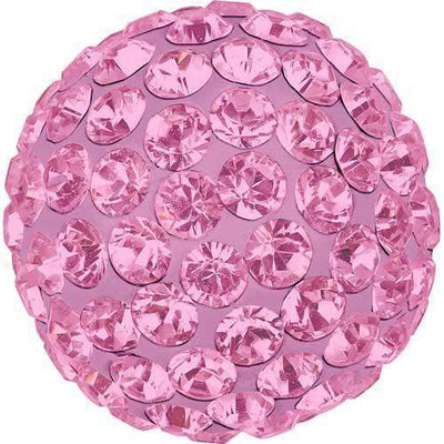 86301 Swarovski® Becharmed Charm Half Hole Pave Ball 10mm-Swarovski BeCharmed & Pave Charms-Light Rose & Rose-10mm - Pack of 1-Bluestreak Crystals