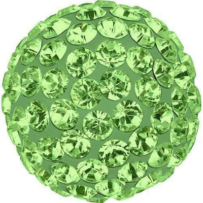 86301 Swarovski® Becharmed Charm Half Hole Pave Ball 10mm-Swarovski BeCharmed & Pave Charms-Peridot & Light Green-10mm - Pack of 1-Bluestreak Crystals