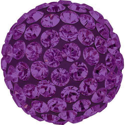 86301 Swarovski® Becharmed Charm Half Hole Pave Ball 8mm-Swarovski BeCharmed & Pave Charms-Amethyst & Dark Lila-8mm - Pack of 1-Bluestreak Crystals