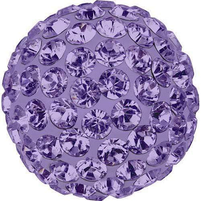 86301 Swarovski® Becharmed Charm Half Hole Pave Ball 8mm-Swarovski BeCharmed & Pave Charms-Tanzanite & Purple-8mm - Pack of 1-Bluestreak Crystals