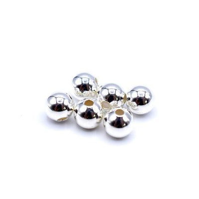 Silver Plated Jewellery Findings Round Smooth Beads-Silver Plated Findings-2.5mm-Pack of 100-Bluestreak Crystals