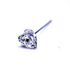 Swarovski® Crystal Flower Pins Antique Heart