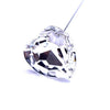 Swarovski® Crystal Flower Pins Heart-Swarovski Flower Pins-Crystal-28mm - Pack of 16 (Wholesale)-Bluestreak Crystals