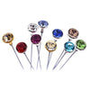 Swarovski® Crystal Flower Pins Petite (Silver Casing)-Swarovski Flower Pins-Crystal-Silver-10mm - Pack of 96 (Wholesale)-Bluestreak Crystals