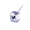 Swarovski® Crystal Flower Pins Square-Swarovski Flower Pins-Crystal-18mm - Pack of 24 (Wholesale)-Bluestreak Crystals