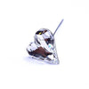 Swarovski® Crystal Flower Pins Sweet Heart-Swarovski Flower Pins-Crystal-27x25mm - Pack of 16 (Wholesale)-Bluestreak Crystals