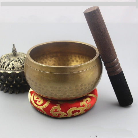 Nepal Handmade Therapy Copper Chime Copper Spiritual Healing Bowl - Dealfactor Canada