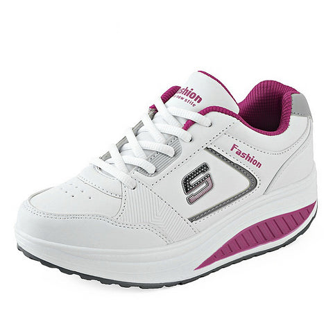 LudBA Originals® Women's Running Shoes Height Increasing Leather Sneakers - Dealfactor Canada