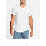 3 Pack- V-Neck Men's Conventional Comfortable Cotton Plain White Blank T - SHIRT 100% Soft Cotton V-Neck
