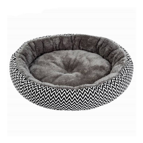 Soft Plush Pet Round Bed Puppy Cushion Comfort Zone - Dealfactor Canada