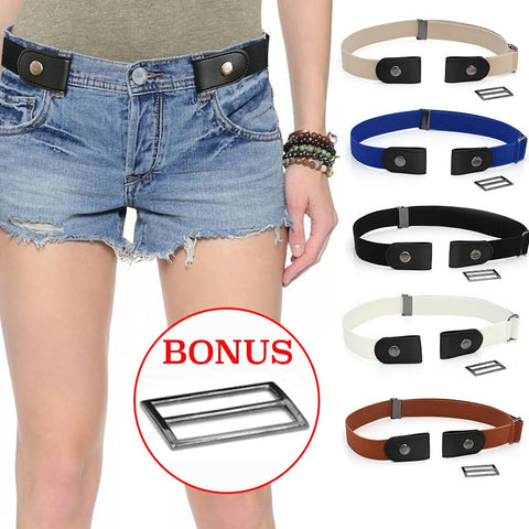 Easy Belt Without Buckle Elastic Waist Belts For Women Fashion Stretch  Jeans Belt Kids Boys Girls