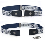 Leather Waist Belt Without Buckle Easy Belts For Women Men