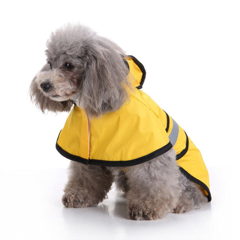 Waterproof Pet Dog Hooded Raincoat Pet Waterproof Puppy Dog Jacket Outdoor Coat Ski