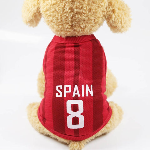 Pet Dog Football Match Print Vest Clothes for Dogs Costume Sports Pet T-shirt