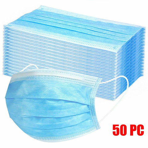Disposable Masks 3-layer Non-Woven Face Mask Anti Dust Mouth Mask Protection Breathing Soft Protective Mask