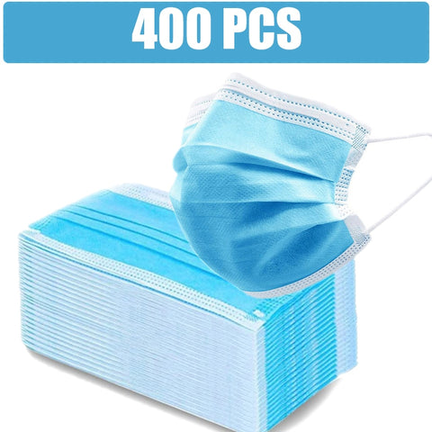 400/200/100/50 Pcs Disposable Non-woven Fabric Face Mask Anti-pollution Facial Mask 3 Layers Filter Personal Face Mouth Masks
