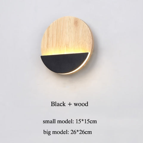 LED Wall Light Bedroom Bedside Wall Lamp Wooden Modern Indoor Stair Corridor Lighting