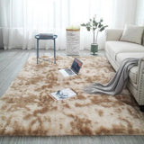Plush Soft Carpet Faux Fur Area Rug Non-slip Floor Rug Mats Different Sizes For Living Room Bedroom