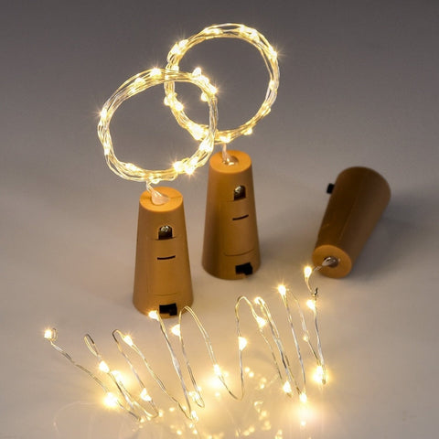 10PCS 1M 2M LED String Lamps Wine Bottle Stopper Light Cork Shaped For Party Wedding Decoration