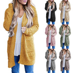 Solid Warm Wool Pockets Cardigan Coat Womens Casual Sweaters - Dealfactor Canada