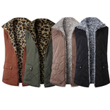 Women Winter Two-Way Fluffy Reversible Windproof Vest Coat - Dealfactor Canada