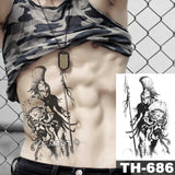 Holy Angel Waterproof Temporary Tattoo Sticker Brave knight Warrior Body Art Arm