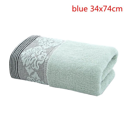 1pc Embroidery Lavender Cotton Face Towels Bath Towel Washcloths High Absorbent