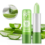 1Pc Aloe Vera Base Makeup Lips Care Smooth Moisturizing Color Long Lasting - Dealfactor Canada